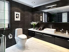 10张黑色浴室柜效果图 稳重大气