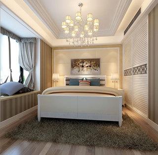 欧式白色移门衣柜效果图片