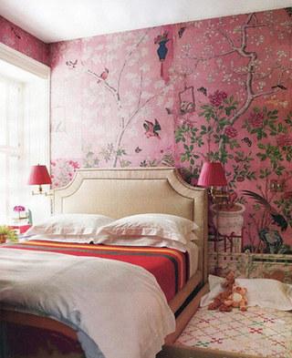 欧式卧室手绘墙效果图