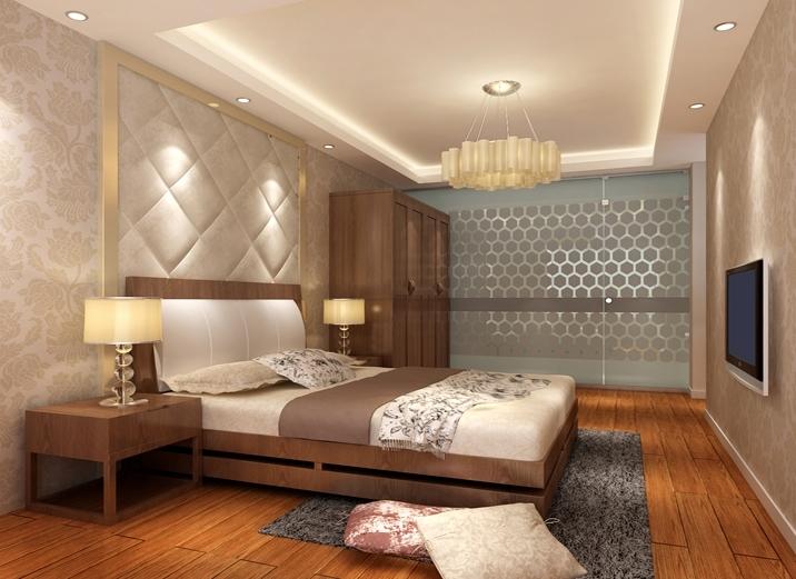 经典中式风格卧室效果图