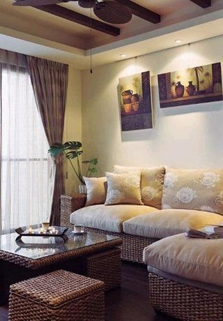 东南亚混搭布艺沙发设计图片