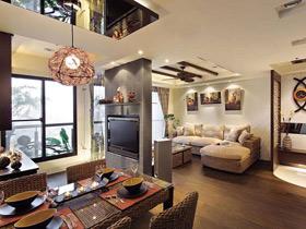 雅致东南亚风情四居室 每天都像住在度假公寓