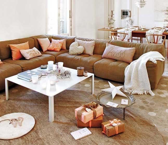L型时尚客厅布艺沙发效果图