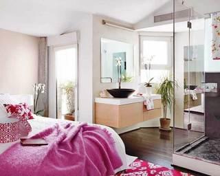 粉色温暖舒适卧室设计效果图