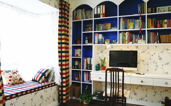 蓝色书柜设计图