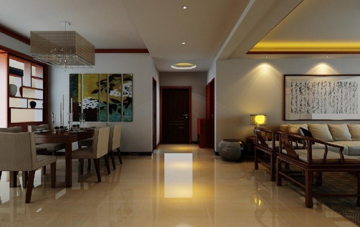 中式走廊效果图设计