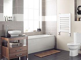 复古简欧风卫生间 小型浴室柜设计图