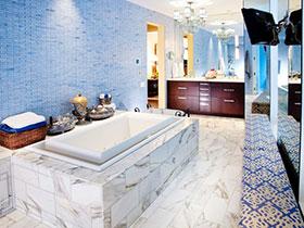地中海风来袭 13张浴室柜设计图