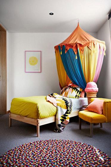 多彩小儿童床效果图