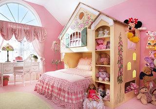 温馨粉色卧室飘窗效果图