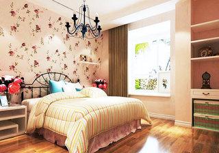 大气粉色卧室飘窗效果图