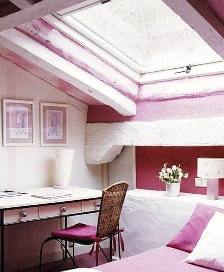 卧室粉色卧室飘窗效果图