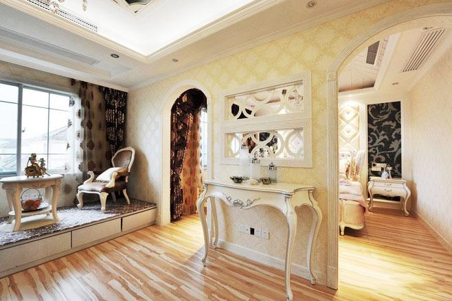 现代简约风格厨房三层平顶别墅舒适家装过道设计图