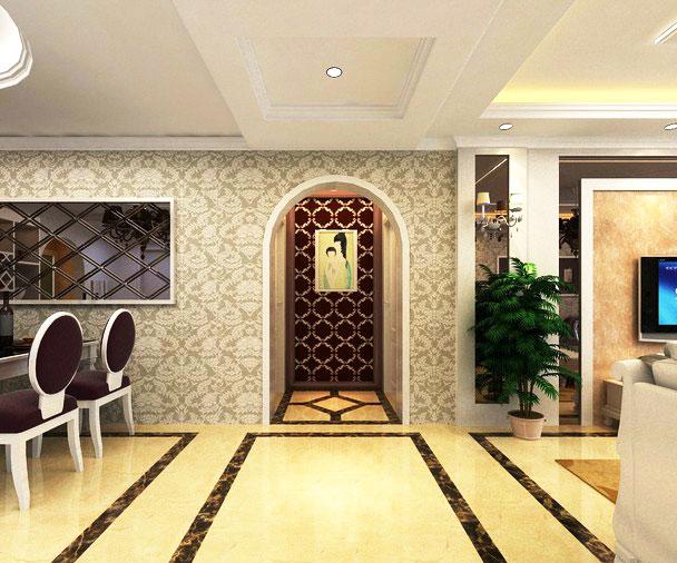 客厅吊顶带走廊效果图另类客厅吊顶图片7