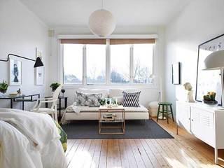 白色客厅卧室设计效果图