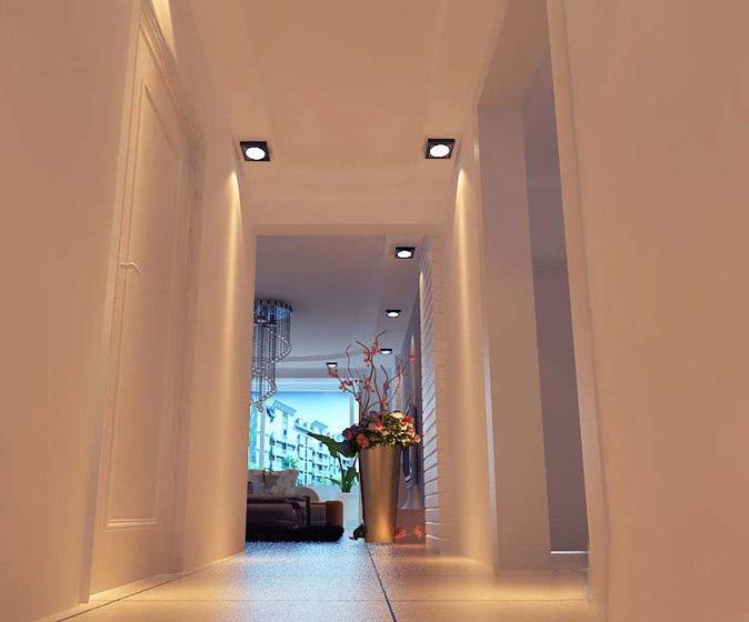 简约时尚白色走廊效果图