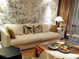 唯美典雅新中式三居室 当样板房很合适