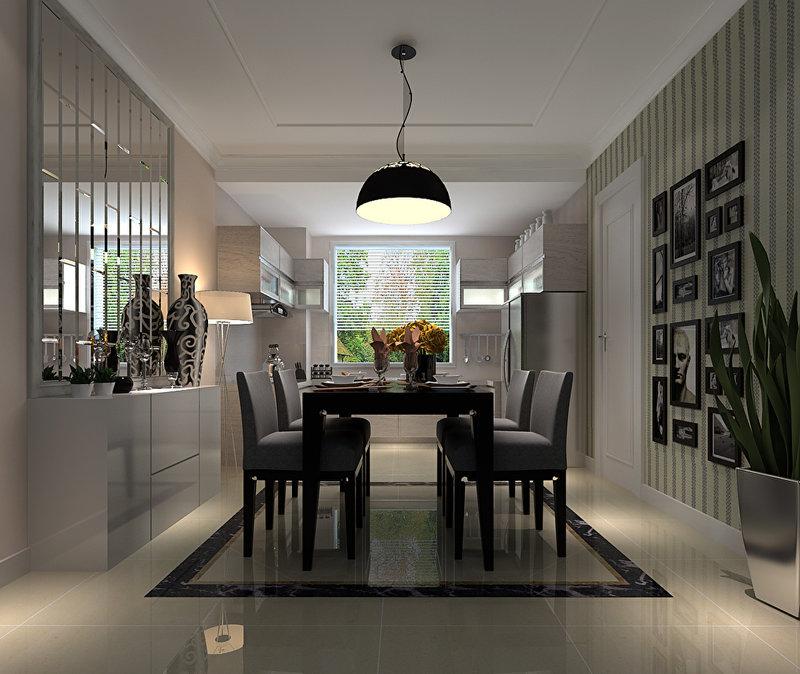 装修效果图,现代敞开式厨房装修案例效果图 齐家装修网高清图片