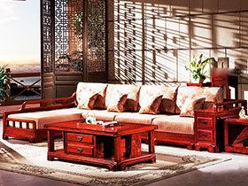 客厅红木沙发效果图 15图华丽上演