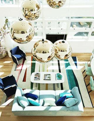 华丽别墅客厅沙发效果图
