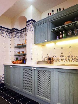 蓝色厨房系转效果图