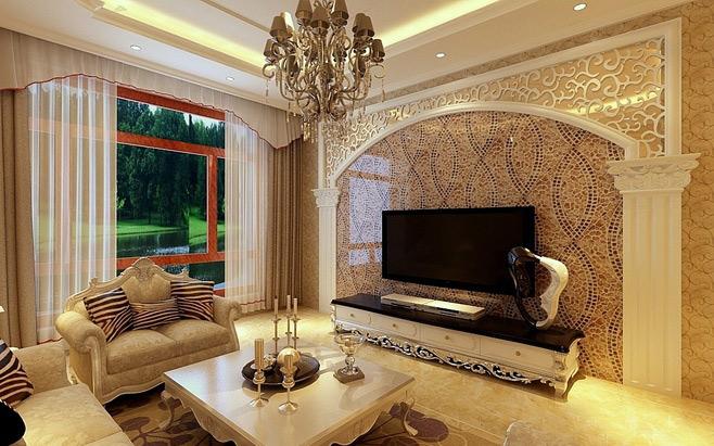 欧式电视背景墙装修效果图大全2012图片1-10