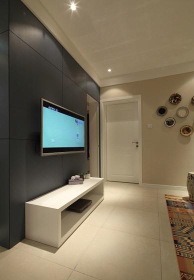 灰色客厅电视背景墙效果图