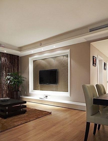 最新硅藻泥效果图电视背景墙装修效果图大全
