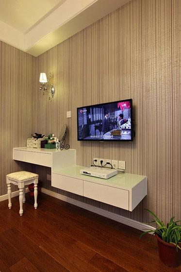 条纹壁纸电视背景墙效果图