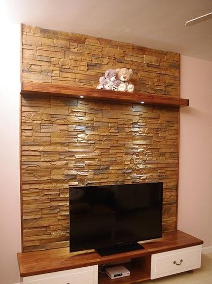褐色电视背景墙效果图