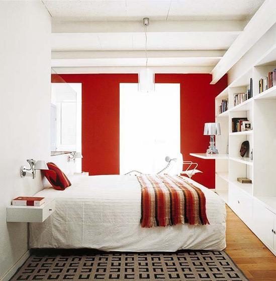 暖色调现代卧室设计效果图