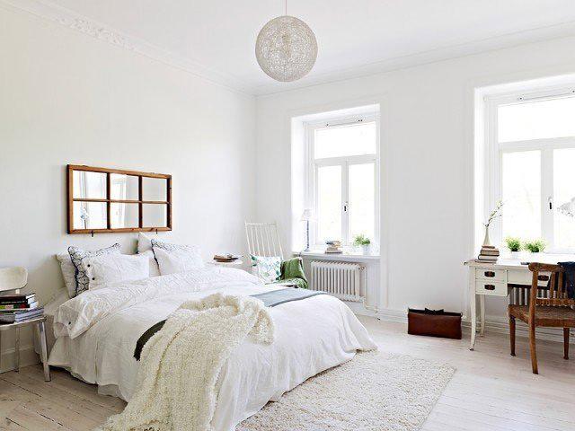清新白色卧室设计效果图