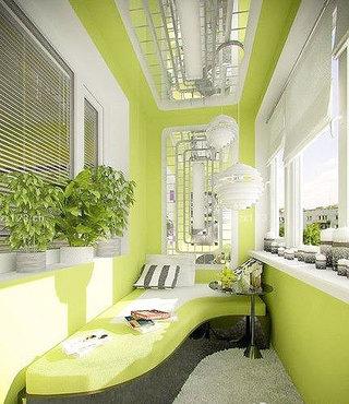 绿色吊顶效果图
