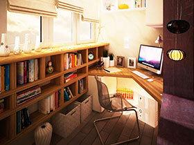 阳台书房效果图 13图空间利用妙法
