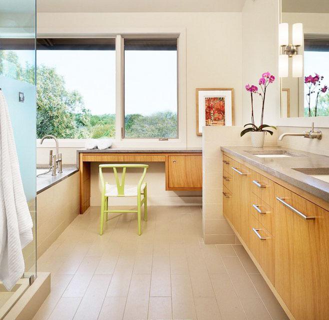 黄色浴室柜图片