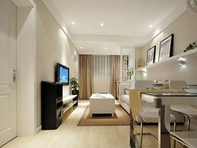优雅裸色系 现代新中式二居设计