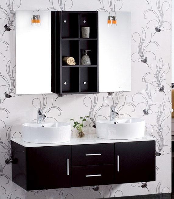黑色浴室柜图片
