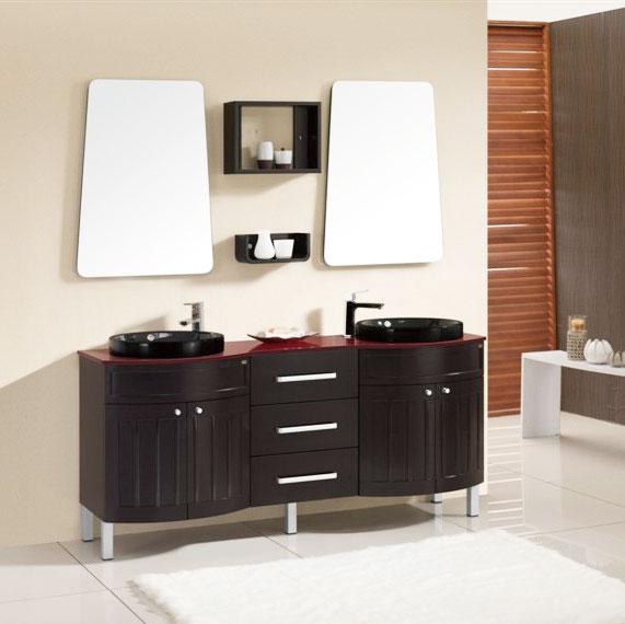 双盆浴室柜图片