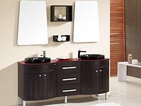 12张双盆浴室柜效果图 实用大方