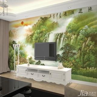 有些壁画图案可以超出门窗而布置在墙的上半部,其优点是画面兜圈,延续