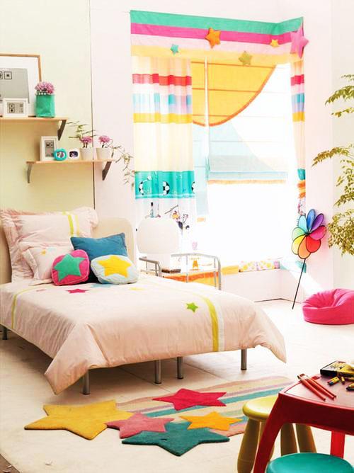 粉色布艺床效果图