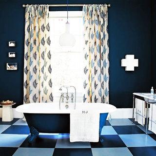蓝色卫生间地砖效果图