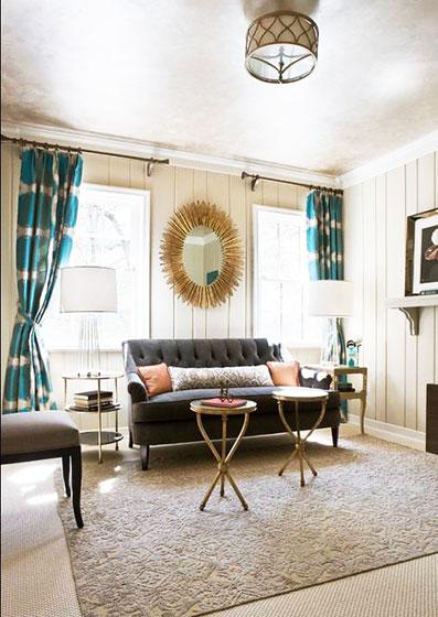 现代简约风格简洁窗帘效果图