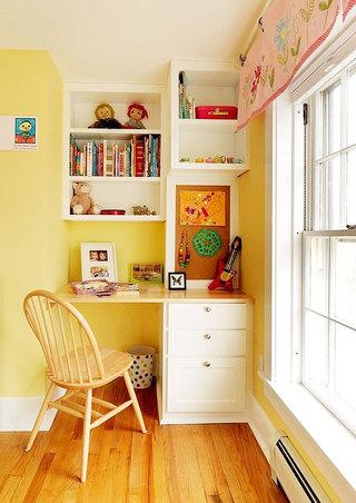 儿童书桌书柜效果图