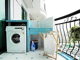 12张阳台洗手台效果图 方便实用
