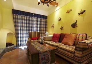 温馨苏格兰式客厅设计效果图
