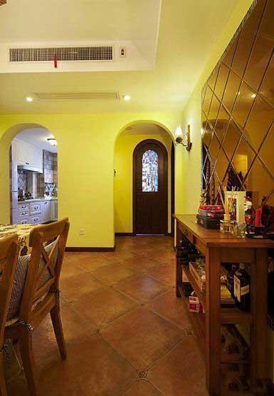 三居室温馨暖色调20万以上130平米装修效果图