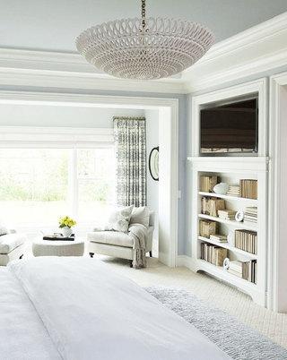 白色石膏板卧室吊顶效果图
