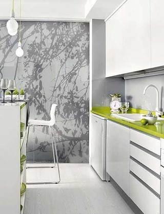 小清新厨房背景墙设计效果图