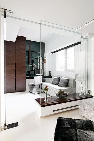 客厅玻璃隔断图片